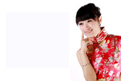 Chinese girl. A Chinese girl in Chinese traditional dress Stock Photo