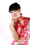 Chinese girl. A Chinese girl in Chinese traditional dress Stock Photos