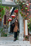 Chinese Girl. In the ancient city of the taierzhuang visit Chinese girl Stock Photography
