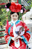 Chinese girl in ancient dress. Portrait of a beautiful girl in Chinese ancient dress Royalty Free Stock Photo