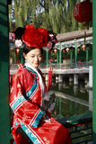 Chinese girl in ancient dress  Royalty Free Stock Photography
