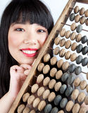 Chinese girl the bookkeeper Royalty Free Stock Photography