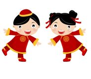 Chinese Girl-Boy Royalty Free Stock Photos
