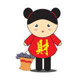 Chinese girl cartoon Stock Photos