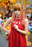 A Chinese girl celebrate Chinese New Year Royalty Free Stock Photography