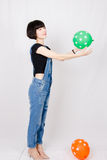 Chinese girl. Contemporary Chinese girl, sweet and full of vitality Royalty Free Stock Images