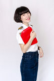 Chinese girl. Contemporary Chinese girl, sweet and full of vitality Stock Image