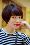 Chinese girl. Contemporary Chinese girl, sweet and full of vitality Royalty Free Stock Image