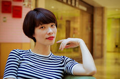 Chinese girl. Contemporary Chinese girl, sweet and full of vitality Royalty Free Stock Photo