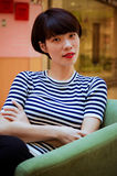 Chinese girl. Contemporary Chinese girl, sweet and full of vitality Stock Photography