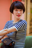 Chinese girl. Contemporary Chinese girl, sweet and full of vitality Royalty Free Stock Photography