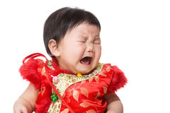 Chinese girl crying Stock Photography