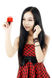 Chinese girl drawing stock photography