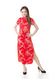 Chinese girl dress traditional cheongsam Royalty Free Stock Photo