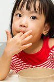 Chinese Girl Eating Durian Royalty Free Stock Image