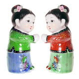 Chinese Girl Figurines Stock Photo