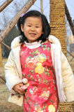 Chinese Girl have beautiful wear Stock Images