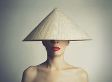 Chinese Girl In The Hat Stock Images
