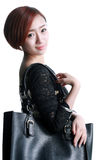 Chinese girl Kua shoulder bag Stock Photo