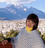 Chinese girl in Lijiang Stock Images