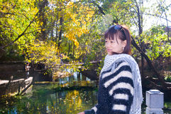 Chinese girl in Lijiang Stock Image