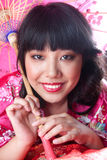 Chinese girl in national clothes Royalty Free Stock Photography