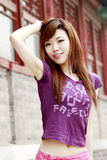 Chinese girl outdoors. Stock Photo