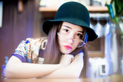 A Chinese girl Royalty Free Stock Photo