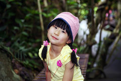 Chinese girl in the rainforest Stock Image