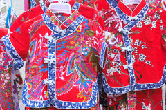 Chinese girl's clothing Royalty Free Stock Images