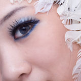 Chinese girl's eye. The beautiful chinese girl's eye Stock Photography