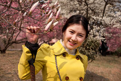 Chinese Girl. 's photos when sightseeing,in qingdao Stock Photo