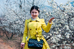 Chinese Girl. 's photos when sightseeing,in qingdao Royalty Free Stock Photography