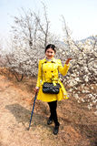 Chinese Girl. 's photos when sightseeing,in qingdao Royalty Free Stock Photo