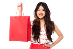 Chinese girl with shopping bag Stock Photo