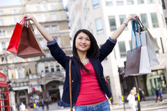 Chinese girl shopping Stock Photo