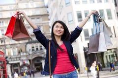 Chinese girl shopping Stock Photo