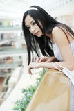 Chinese girl in shopping mall. stock image