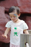 Chinese girl show a gesture Royalty Free Stock Photos