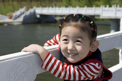 Chinese girl with smile. The Chinese girl looking at the camera lens with smile Stock Photo
