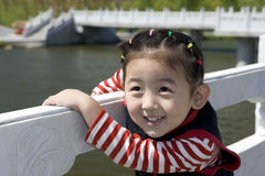 Chinese girl with smile. The Chinese girl looking at the camera lens with smile Royalty Free Stock Image