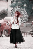 Chinese girl on the street Royalty Free Stock Images