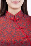 Chinese girl and traditional clothing  cheongsam Royalty Free Stock Photography