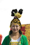 Chinese girl traditional headdress stock photography