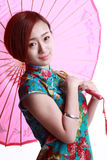 Chinese girl Wearing a cheongsam. Stock Photography