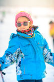 Chinese girls are practicing skiing Royalty Free Stock Photos