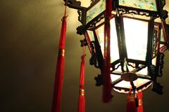 Chinese glass lamp Stock Images