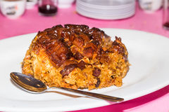 Chinese glutinous rice with waxed meat delicacy Royalty Free Stock Photography