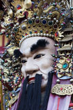 Chinese God. These are man-size puppets or costumes worn by temple workers during parades.  They are popular in Taiwan and are paraded on a regular bases.  They Royalty Free Stock Image