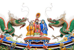 Chinese god and dragon Royalty Free Stock Photos